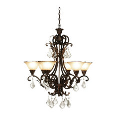 Florence 6-Light Oiled Bronze Chandelier