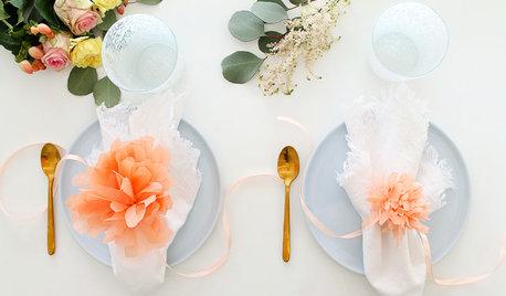 DIY : Des ronds de serviette fleuris en papier de soie