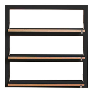 Fläpps Triple Slim Birch Plywood Shelf, Black