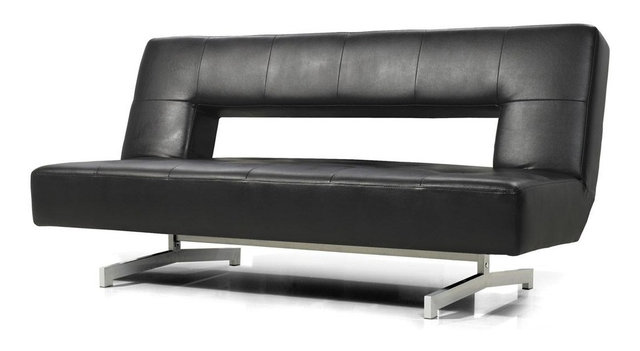 futon modern dp couch com amazon metal coaster frame sofa black