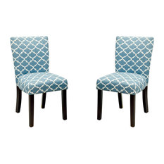 Fabric Dining Chairs Teal riven dining side chairs | houzz