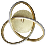 EQLight - Circular Knot LED 13W Golden Leaf Sconce - Integrated LED Wall Sconce with Golden Leaf finished. Sconce of circular knod shape or style. Includes canopy with Golden Leaf finished. Gives off a white-warm light, prefect for residentials decoration