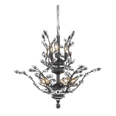 Elegant Lighting Orchid 8-Light Crystal Chandelier, Dark Bronze, Elegant Cut, Cr