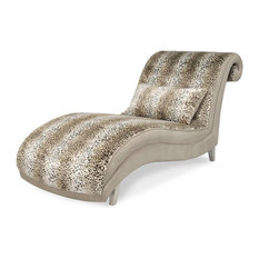 Upholstered chaise lounge houzz for Ava chaise lounge