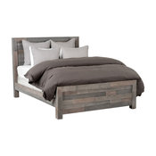 Norman Reclaimed Pine California King Bed, Distressed Charcoal by Kosas Home