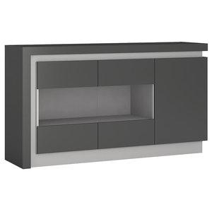 Lyon Grey 3-Door Sideboard With LED Lighting