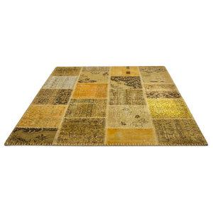 Jumble Patchwork 560 Rug, Gold, 200x290 cm