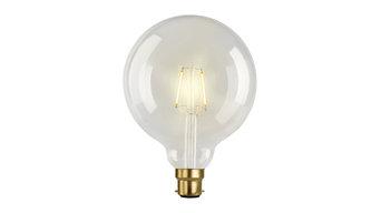 LED Filament Ultra  Warm  White Vintage Clear Globe G125, Regular, B22