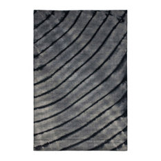 Nelli Hand Knotted Rug, Gray, 6'x9'