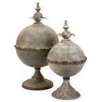 IMAX Worldwide Home - Decorative Lidded Sphere, 2-Piece Set - *Please Note*