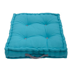 Jacky Plain Box Garden Cushion, Teal Blue