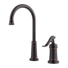 Pfister LG72-YP2 Ashfield Gooseneck Kitchen Faucet With Pforever Seal Technology