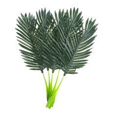 "Warmter - Warmter 22"" Artificial Palm Leaves Tropical Plant, Set of 5 - Artificial Plants and Trees"