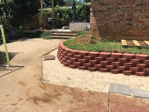 Filling Gap Between Retaining Wall And Driveway
