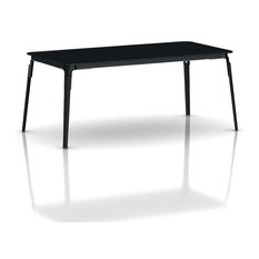Steelwood Rectangular Table, Black