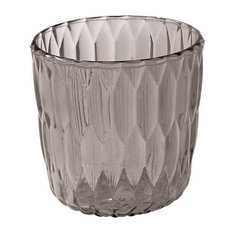 Jelly Vase by Kartell, Set of 2, Transparent Smoked Gray
