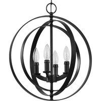Equinox Collection Black 4-Light Sphere Pendant