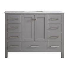 Gela Single Vanity Without Mirror, Gray, 48""