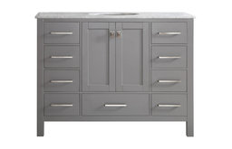 """Gela Single Vanity Without Mirror, Gray, 48"""""""