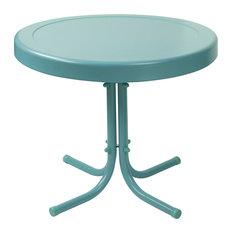 Retro Metal Side Table, Caribbean Blue