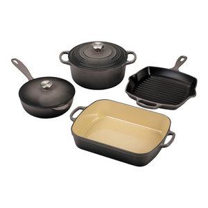 Le Creuset Signature Oyster Enameled Cast Iron 6 Piece Cookware Set