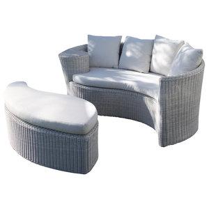 Isla Bonita Outdoor Sofa Set, White Wash