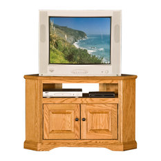 41-inch OakRidge Corner TV Cart Bright White Oak