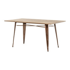 Modrest Ford Modern Wood Dining Table Copper