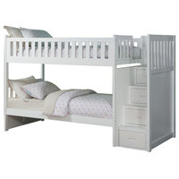 Carissa Bunk Bed With Reversible Step Storage, White