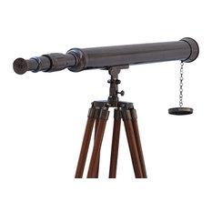 """Floor Standing Harbor Master Telescope, Oil-Rubbed Bronze, 60"""""""