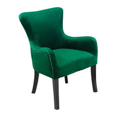 Monsoon Pacific   Aalten Emerald Green Velvet Arm Chair   Armchairs And Accent  Chairs