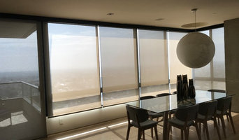 Motorized sunscreen shades in Wilshire condo
