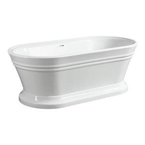 """Vanity Art Freestanding Acrylic Bathtub, 59"""""""
