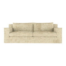 Mulberry 9' Crushed Velvet Sofa Marzipan Extra Deep
