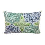 Vanguard Fabric Decorative Lumbar Pillow Cover, Pixie Lagoon