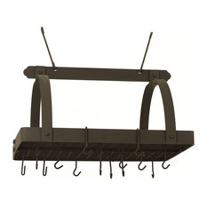 Pot Rack With Grid And 24 Hooks, Graphite