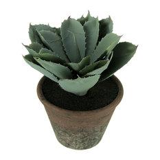 Small Artificial Cactus Plant in Terracotta Finish Pot
