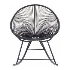 Design Tree Home   Acapulco Rocking Chair, Black   Outdoor Rocking Chairs