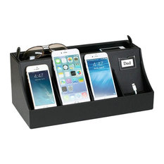 Desktop Smartphone Charging Station and Valet, Without Power Supply