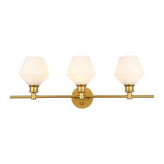 Gene 3-Light Wall Sconce, Brass