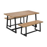 Argos Home Nomad 160cm Dining Table and 2 Benches