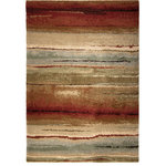 """Orian - Orian Wild Weave Dusk to Dawn Shag Area Rug, Multi, 7'10""""x10'10"""" - Weave a fresh vibe into your space with help from the Wild Weave Dusk Sunset Area Rug. With a stunning color combination dyed on an olefin pile, this rug is your solution to reviving worn floors or protecting new ones. This design leaves a lasting impression by combining traditional ideals with modern forms."""
