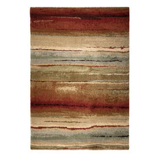 "Orian Wild Weave Dusk to Dawn Shag Area Rug, Multi, 7'10""x10'10"""