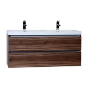 """ConceptBaths Valencia 47"""" Double Bathroom Vanity Set Walnut"""