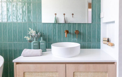 Room Tour: Casual, Coastal Chic for a Bathroom on a Budget