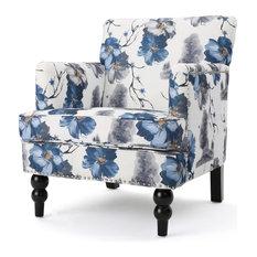GDF Studio Manon Floral Print Fabric Club Chair