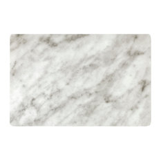 Classical Marble Effect Placemats, Grey, Set of 8