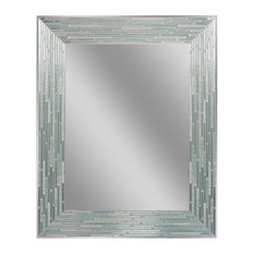 Head West, Inc. - Reeded Sea Glass Mirror - Bathroom Mirrors