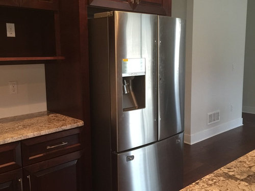 refrigerator dilemma counter depth or standard at end of run. Black Bedroom Furniture Sets. Home Design Ideas