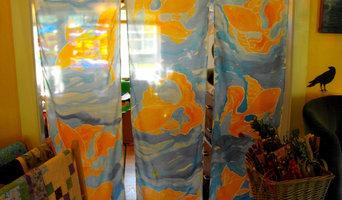 Goldfish Silk Curtains for Art Gallery Entranceway